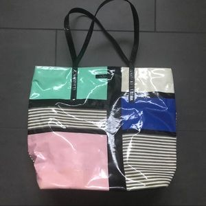Kate spade patent color block tote bag